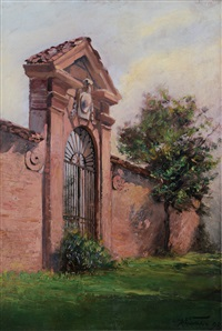 entrata della villa by mario viani d'ovrano