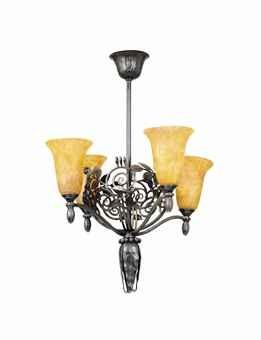 chandelier by daum and edgar william brandt
