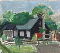 black painted house by søren hjorth-nielsen