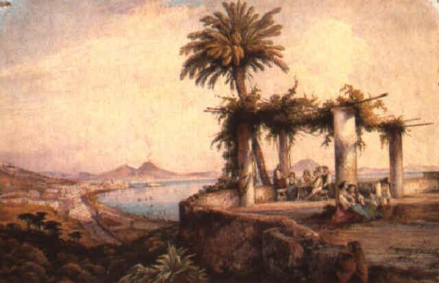 Terrazza Sul Golfo Di Napoli By Consalvo Carelli On Artnet