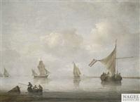 segelschiffe auf reede by arnoldus van anthonissen