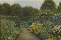 the garden at blair with rose beds by ernest arthur rowe