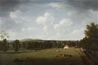 distant view of a town (+ another; 2 works) by william tomkins