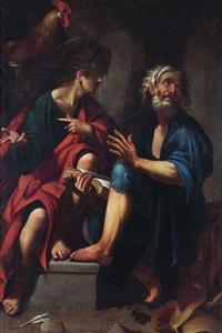 der heilige petrus und der heilige matthäus by cavaliere giovanni baglione