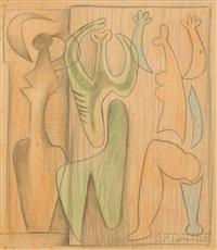 three figures by mario carreño