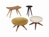 a group of four stools by vladimir kagan