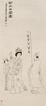 明妃出塞图 by zhang daqian