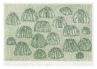 pumpkin army 85 (green) by yayoi kusama