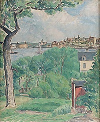 vy från kungsholmen mot mariaberget by victor axelson