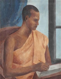 portrait of pinnawela dhirananda by george keyt