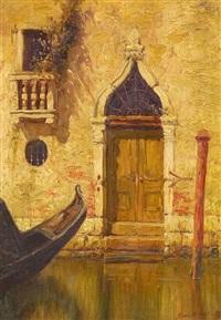 a gothic door, venice by burr h. nicholls