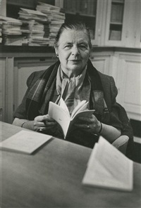marguerite yourcenar à desert island (7 works) by gisèle freund