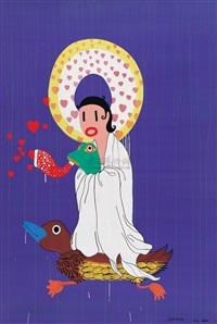 kwan-yin with frog by xu maomao