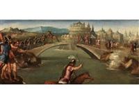 orazio coclite sul ponte (horatius cocles verteidigt die brücke) by bonifazio de pitati