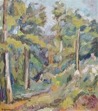 landschaft mit bäumen by alfred lehmann