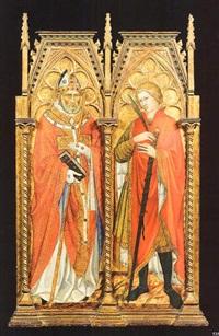 santo vescovo e santo cavaliere by taddeo di bartolo