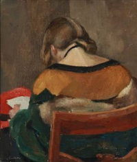girl with back turned by carl fischer