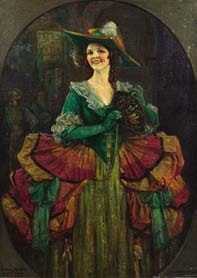isobel mclaren as donna clara in the duenna by john henry amshewitz