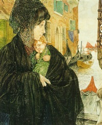 venetian woman with child by nico jungmann
