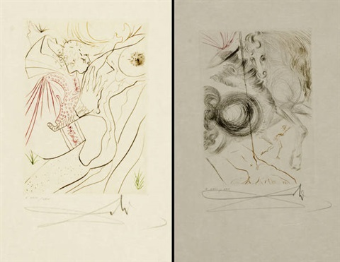 decameron portfolio of 10 works by salvador dalí