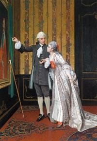 bewunderung für das portrait kardinal richelieus by auguste serrure