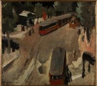 paesaggio urbano (il tram rosso) by giulio da milano
