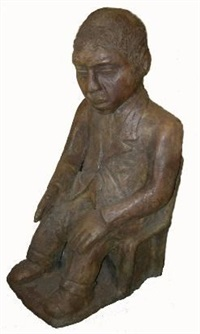 seated figure by noria mabasa