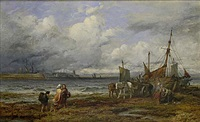 loch eyne herring boats at ardrossan by henry james holding