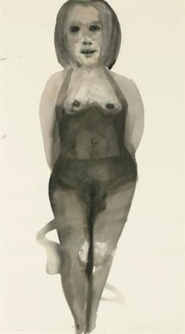 michelle the girl who sells champagne by marlene dumas