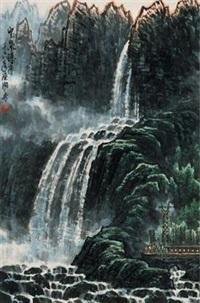 宝泉瀑布 by huang runhua