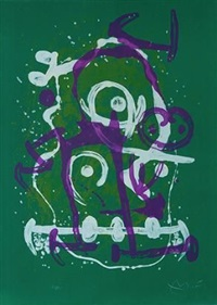 the illiterate - green and violet by joan miró