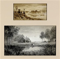 bare island in stony lake, ontario (+ clapham farm, saskatchewan; 2 works) by edward roper