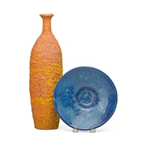 tall bottle, bowl (2 works) by polia pillin