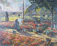 chez l'horticulteur - le triage des fleurs by felix gogo