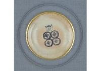 decorative plate by kishida kadô