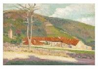 landscape, upper st. tropez by hippolyte petitjean