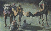 untitled (camels) by ismail gulgee