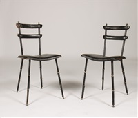 side chairs by jacques adnet