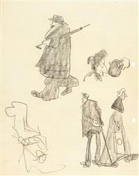 recto und verso: figurenstudien by lyonel feininger