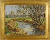 river landscape by frank c. herbst