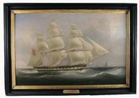 "the ""seringapatam,"" pioneer ship of the greens blackwall line\ by william john huggins"