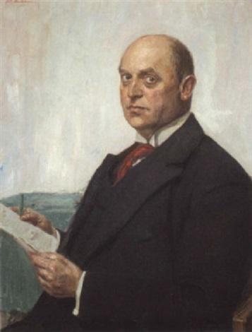 portrait eines worpsweder herrn by fritz mackensen