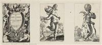 nove raccolta di varii scherzi di puttini novamente (portfolio of 12 w/title pg) by pierre brebiette