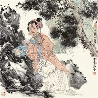松阴仕女图 by xu huiquan