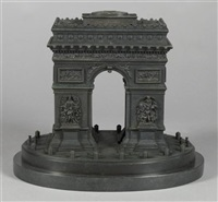 model of l'arc de triomphe by leblanc freres