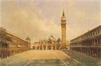 veduta di piazza san marco by luigi querena
