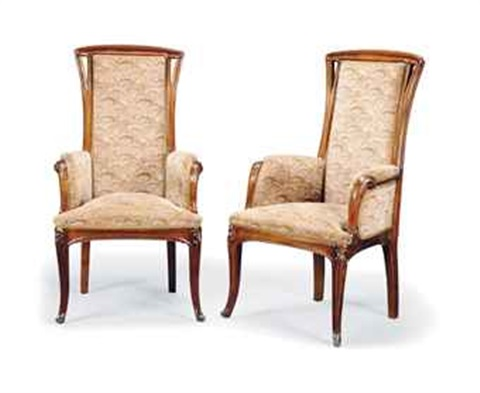armchairs (pair) by louis majorelle