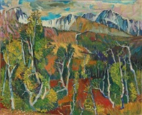 landscape with mountains, norway by jardar lunde