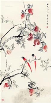 多子多寿 立轴 设色纸本 by liu wensheng