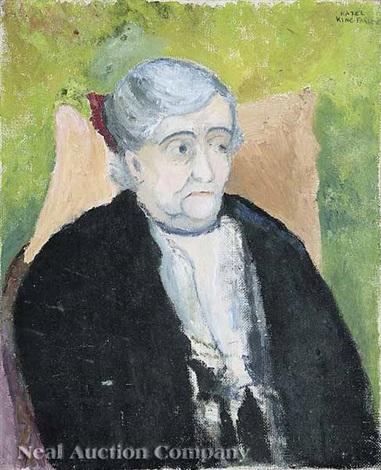 portrait of woman florette guggenheim by hazel guggenheim mckinley